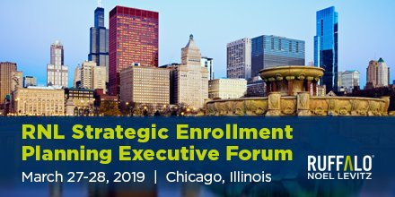 Learn about strategic enrollment planning for community colleges at the RNL Executive Forum.