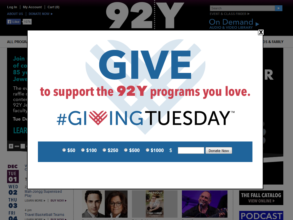 92y giving tuesday