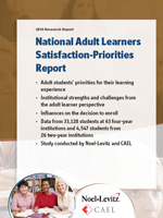 Adult Learner Inventory Report 2010. Provides information about older students and their priorities and satisfaction requirements.