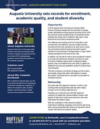 Augusta University enrollment marketing case study