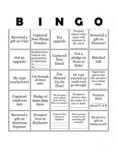 Phonathon Bingo