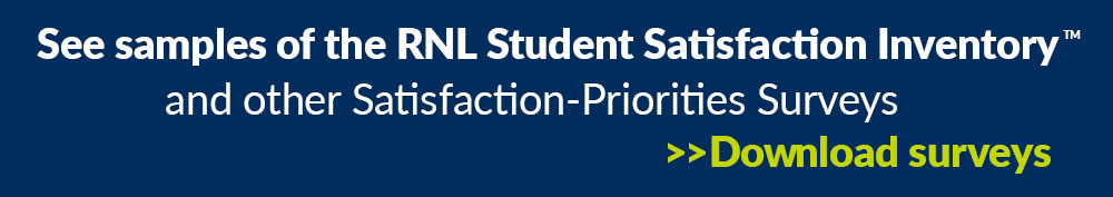 College student satisfaction survey samples