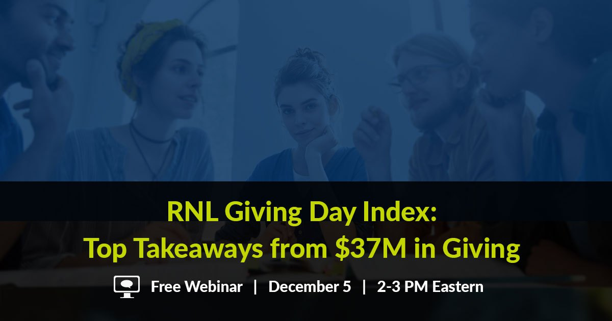#GivingTuesday and giving days: free webinar