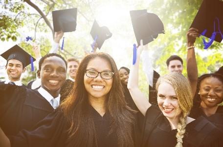 College website photos: Graduates