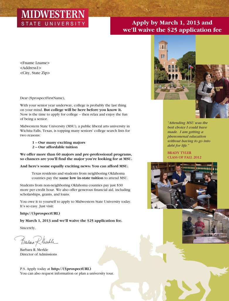 MSU Student Letter