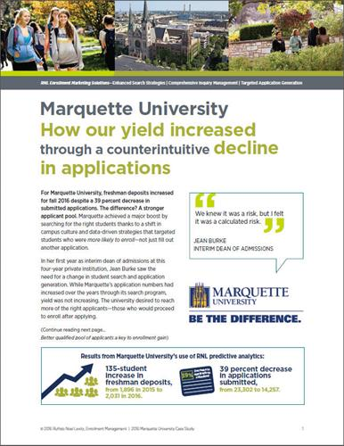 Enrollment case study: Marquette University