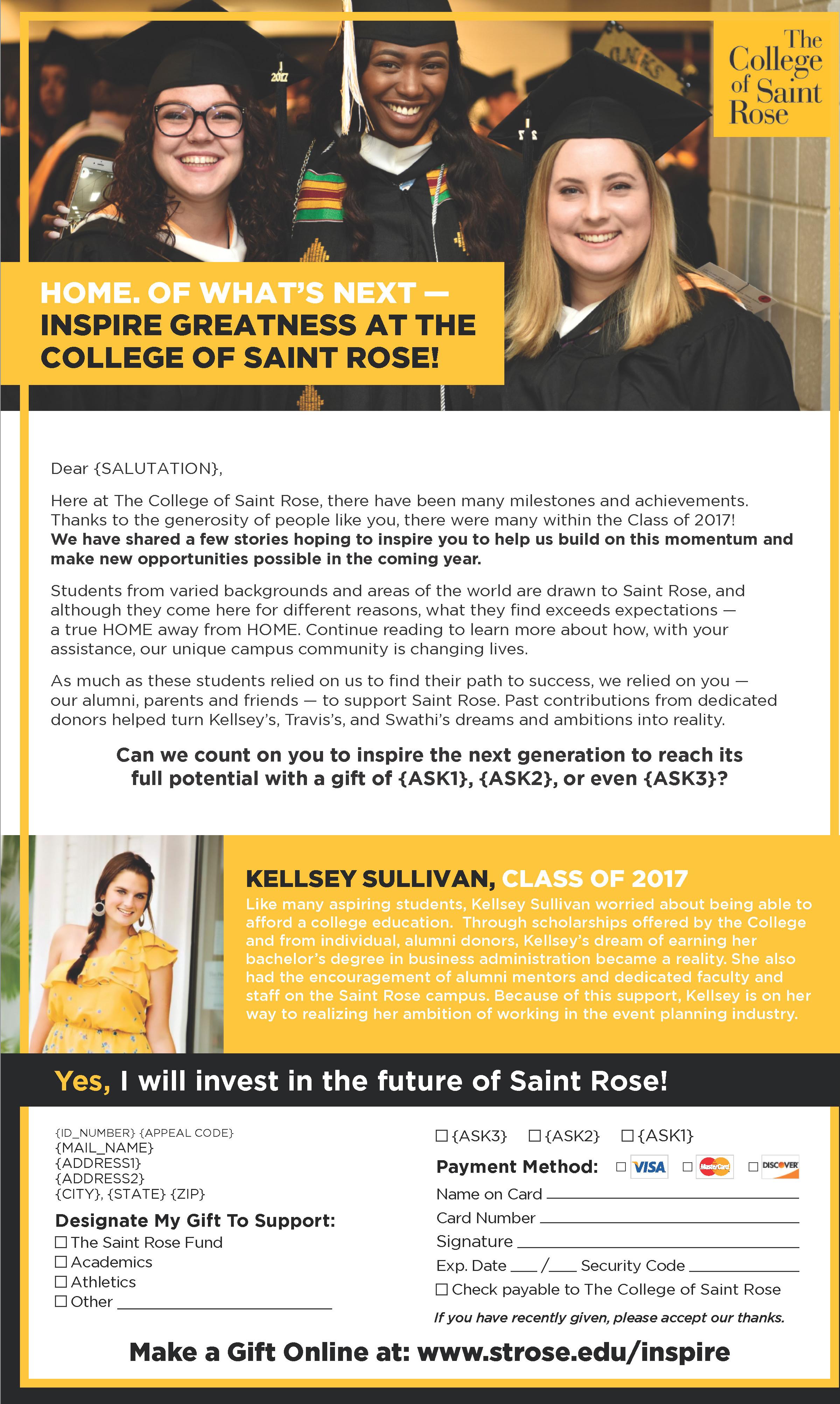 Higher education marketing awards winnerL College of Saint Rose