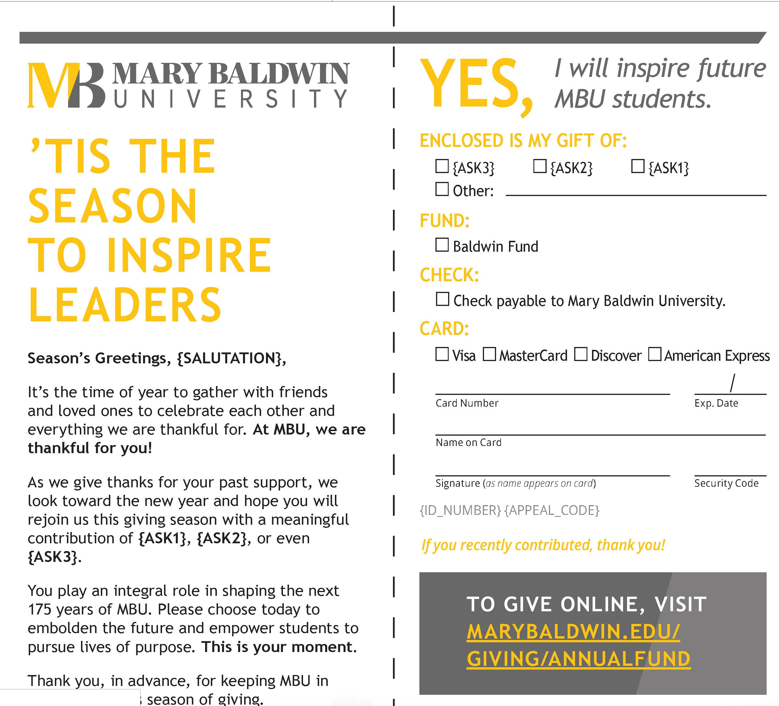 Higher education marketing awards winner: Mary Baldwin University