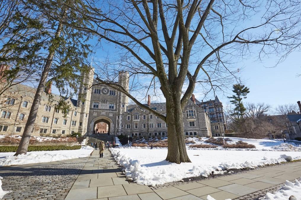 College website photos: Snowy campus
