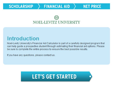 Net price calculators need to communicate all the scholarships and financial aid students are eligible for, as well as provide context for the net cost of attendance.