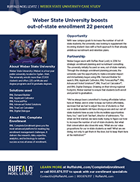 Weber State University enrollment marketing case study