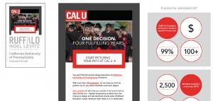 Higher education marketing awrds: Cal U Pennsylvania