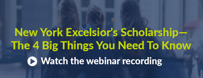 Click to hear our webinar recording on the impact of the Excelsior Scholarship