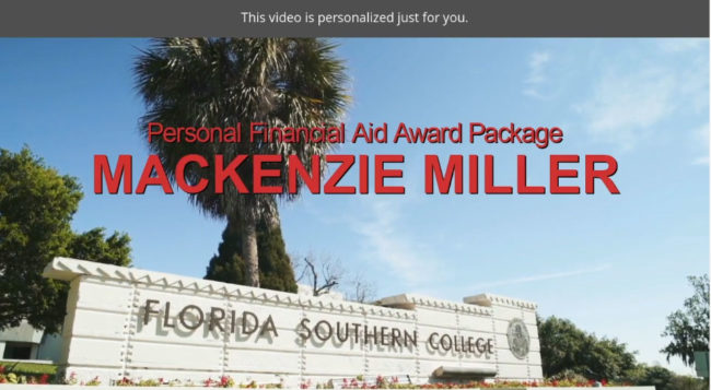 Personalized Financial Aid Video