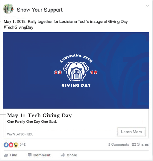 Louisiana Tech digital advertising