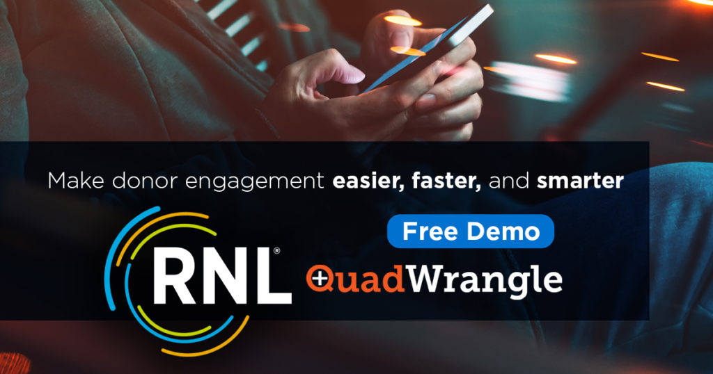 Hyper-personalize donor engagement with RNL QuadWrangle