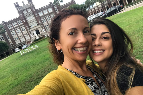 Parental Involvement in College blog: My daughter Sofia and I at her college
