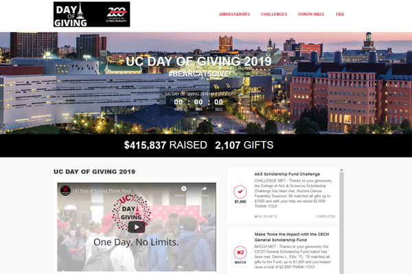 University of Cincinnati Day of Giving