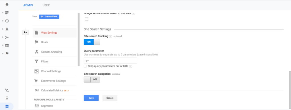Google Analytics: Site Search