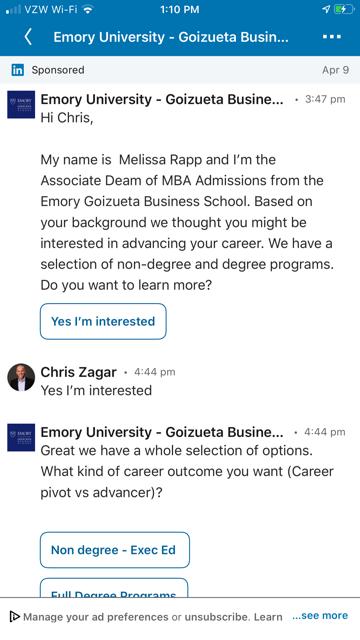 LinkedIn Conversation Ad