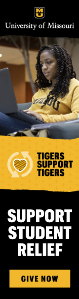 University of Missouri student relief vertical banner ad