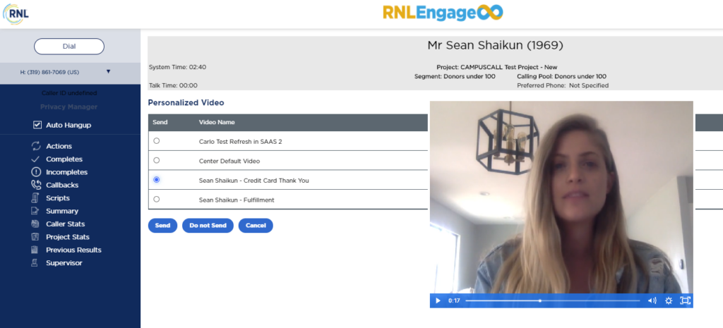 RNL Engage personalized video