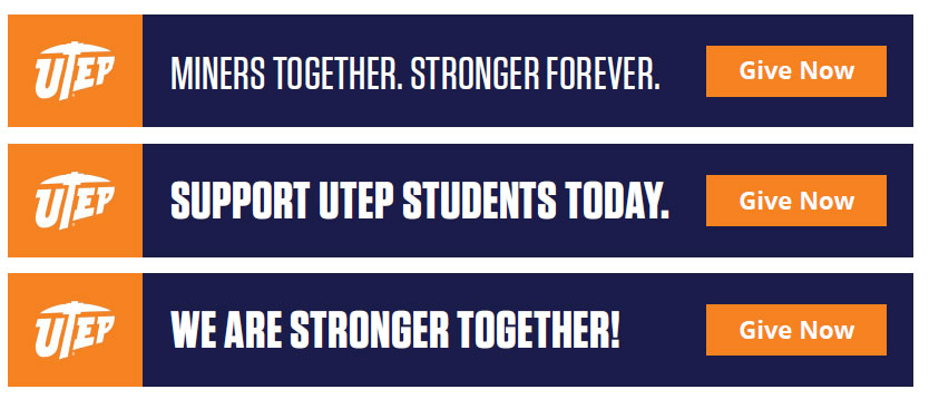 Digital advertising for fundraising: UTEP banner ads