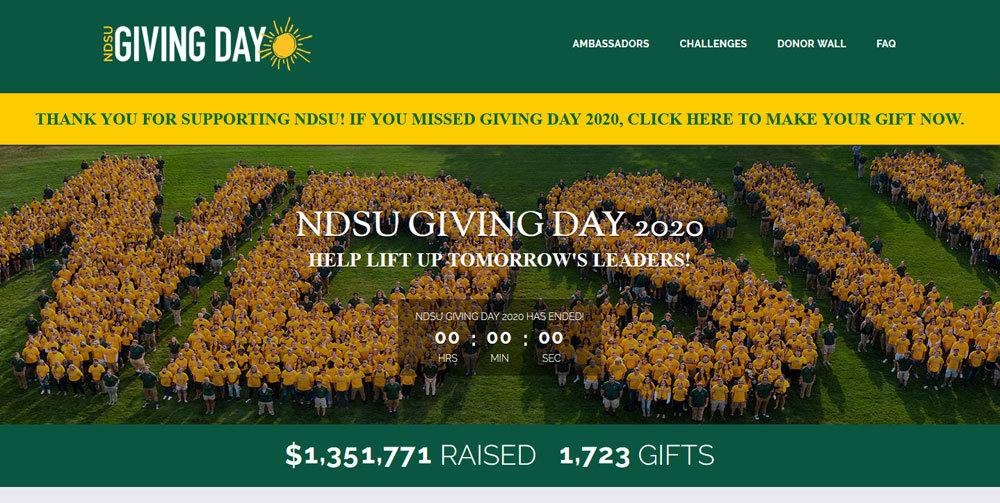 North Dakota State University #GivingTuesday 2020