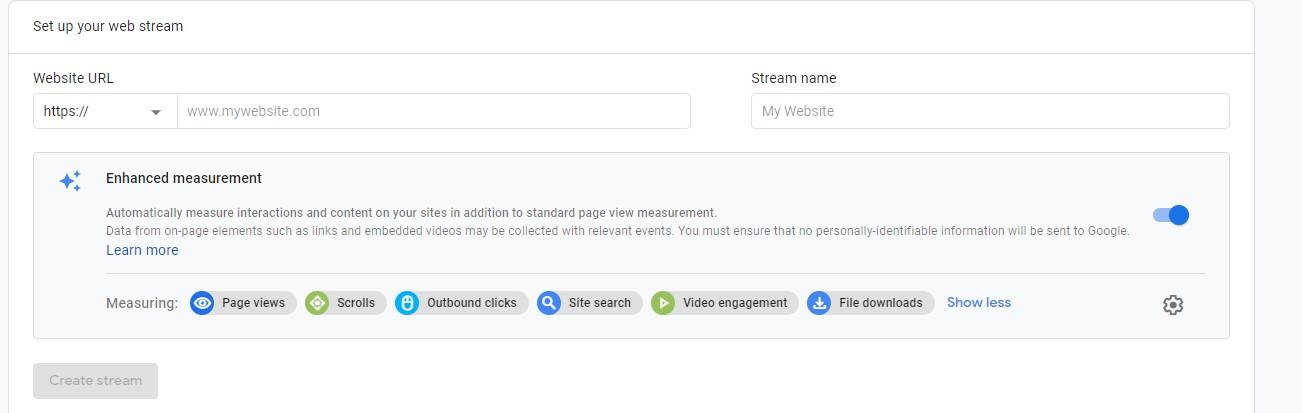 Google Analytics 4: Enhanced measurement