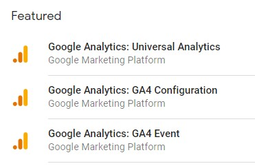 Google Analytics 4: GTM tags