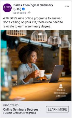 Dallas Theological Seminary digital ad