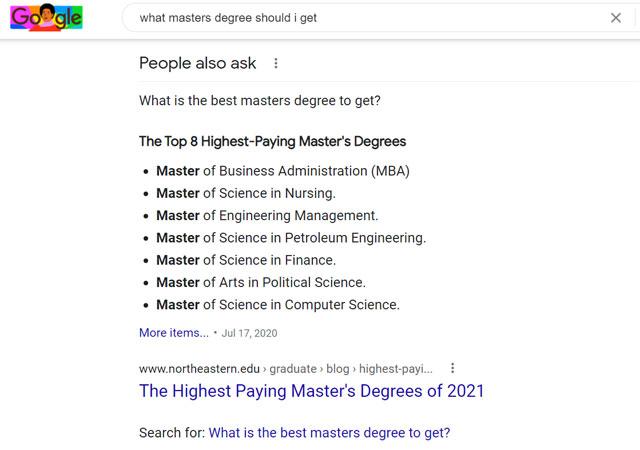 Semantic SEO: What master's degrees should I get?