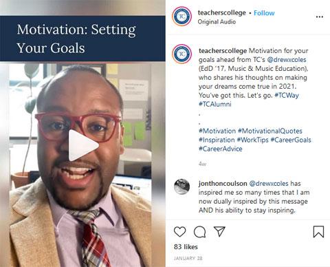 Digital Marketing Trends for EDU: Teacher's College Instagram