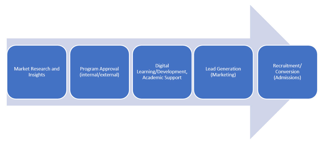 Phases of new online program development