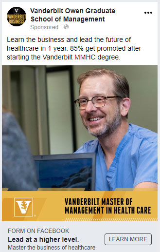 Vanderbilt University Graduate Marketing Case Study: Facebook Ads